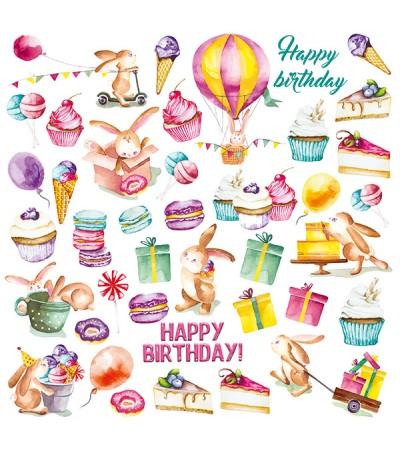 "Лист с картинками для вырезания ""Sweet Birthday"" 30,5х30,5 см"
