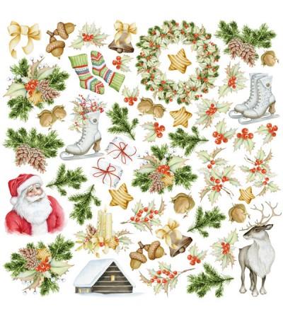 """Лист с картинками для вырезания """"Awaiting Christmas"""" 30,5х30,5 см"""