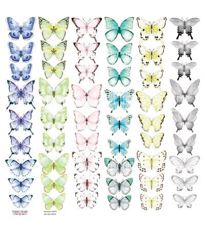 """Лист с картинками для вырезания """"Бабочки"""" 3 30,5х30,5 см"""