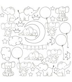 "Лист (картинка антистресс) для   раскрашивания маркерами и фломастерами ""My little baby"" 30,5 см Х 30,5 см"