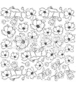"""Лист  для  раскрашивания маркерами  """"Magnolia sky"""" 30,5 см Х 30,5 см"""