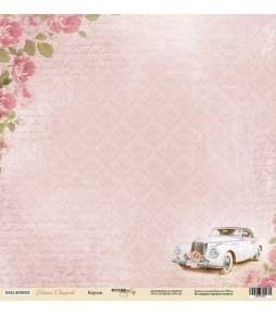 """Лист односторонней бумаги Scrapmir """"Кортеж"""" из коллекции """"Наша Свадьба""""  30*30 см"""