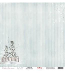 """Бумага """"Зимнее Утро. Снежный Лес"""" 30,5х30,5 см"""