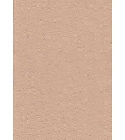 """Бумага с рельефным рисунком """"Завитки"""" крафт"""