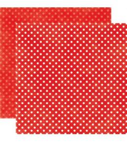 "Бумага ""Ruby Red Tiny Dots"""
