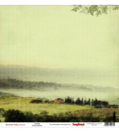 """Бумага   """"Итальянские каникулы Тоскана """" 30*30 см"""