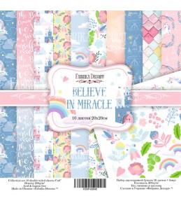 """Набор бумаги """"Believe in miracle"""" 20x20 см"""