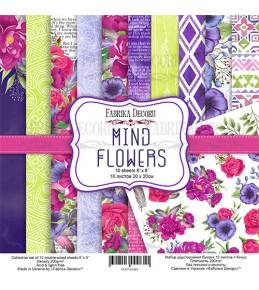"Набор бумаги ""Mind Flowers"" 20x20 см"
