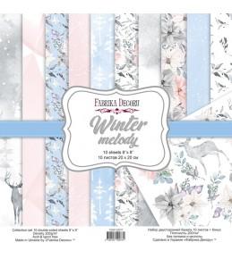 "Набор бумаги ""Winter melody"" 20x20 см"
