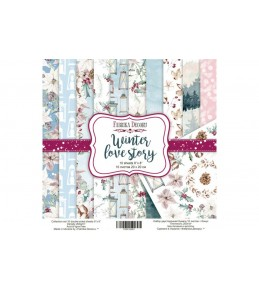 "Набор бумаги ""Winter Love Story"", 20*20 см"
