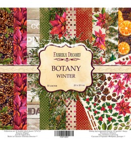 "Набор бумаги ""Botany winter""  20 Х 20 см"