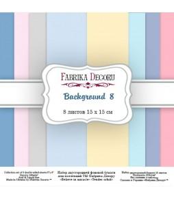 """Набор бумаги """"Backgrounds 8"""" 15x15 см"""