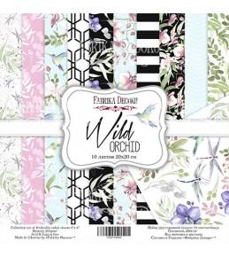 "Набор бумаги ""Wild orchid""  20x20 см"
