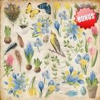 "Набор бумаги ""Botany Spring"" 20x20 см"