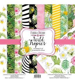 "Набор бумаги ""Wild Tropics"" 20x20 см"