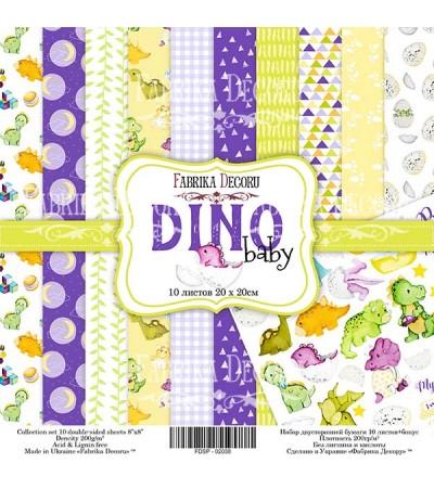 """Набор бумаги """"Dino baby""""  20x20 см"""