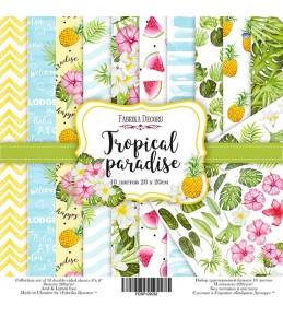 "Набор бумаги ""Tropical paradise"",  20 Х 20 см"