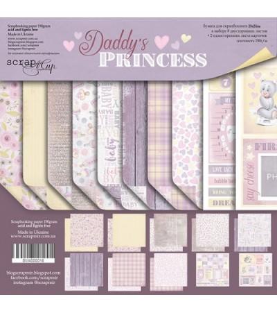"Набор бумаги ""Daddy's Princess""  20х20 см"
