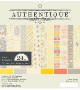 "1/2 Набора бумаги ""Authentique Beyoutiful"" 15*15 см"