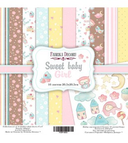 "Набор бумаги ""Sweet baby girl"" 20 Х 20 см"