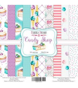 """Набор бумаги """"Candy Shop"""" 20 Х 20 см"""