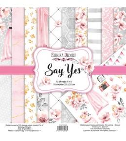 "Набор бумаги ""Say yes"" 20x20 см"