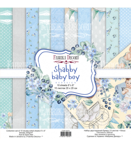 "Набор бумаги ""Shabby baby boy"" 20x20 см"