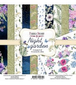 """Набор бумаги """"Night garden"""" 20x20 см"""