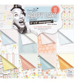 "Набор бумаги ""Happy days"" 15*15 см 1/3 набора"