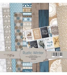 """Набор  бумаги Scrapmir """" Rustic Winter""""  20х20см"""