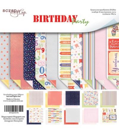 "Набор бумаги ""Birthday Party""  20х20 см"