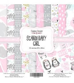 "Набор бумаги ""Scandi Baby Girl"", 20x20 см"