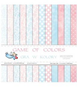 """1/2 набора бумаги """"Game of Colors  """"  30*30 см"""