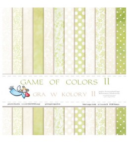 """1/2 набора бумаги """"Game of Colors II""""  30*30 см"""
