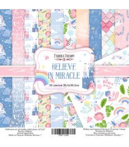 """Набор бумаги """"Believe in miracle""""  30*30 см"""