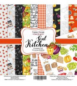 """Набор бумаги """"Soul Kitchen"""", 20x20 см"""