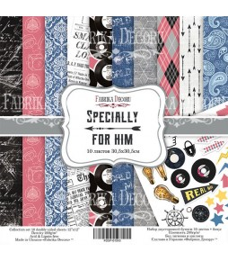 "Набор бумаги ""Specially for him"" 30*30 см"