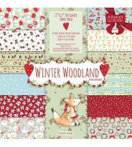 "Набор бумаги  "" Winter Woodland "" 30*30см 1/2 набора"