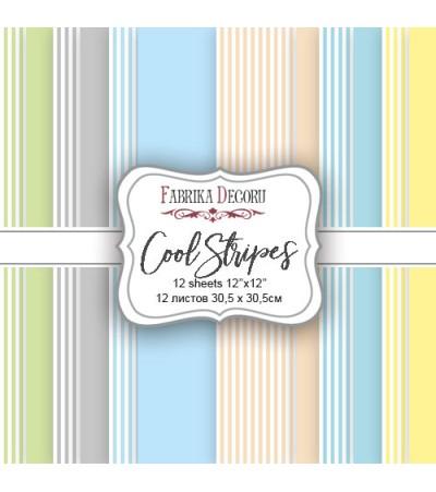 """Набор бумаги """"cool stripes"""" 30,5x30,5 см"""