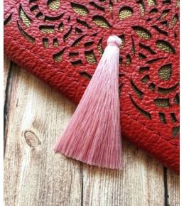 Кисть из шелковой нити, 6,5 см, цвет нежно розовый
