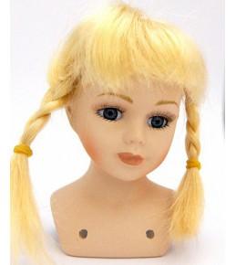 Волосы для кукол (косички) цвет блонд