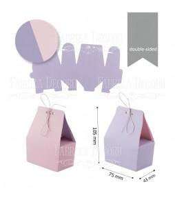 Заготовки для бонбоньерок #004, сиреневый/светло-розовый