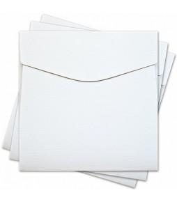 Конверт для открытки 17х17 см, фактура лён