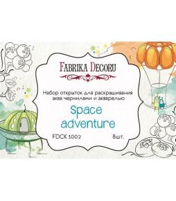 """Набор открыток для раскрашивания аква чернилами """"Space adventure"""""""