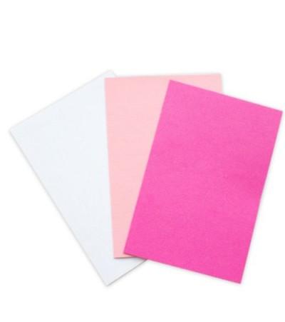 """Набор заготовок для открытки """"Молочный, Розовый, Фуксия"""" 10*15 см"""