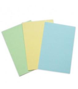 """Набор заготовок для открытки """"Желтый, Голубой, Салатовый""""  10*15 см"""