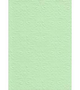"""Бумага с рельефным рисунком """"Дамасский узор"""" Светло-зеленая  А4"""