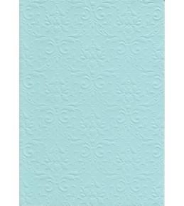 """Бумага с рельефным рисунком """"Дамасский узор"""" Светло-голубая А4"""