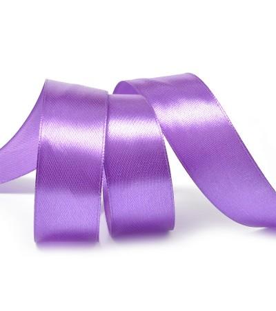 Лента атласная фиолетовая, 25 мм