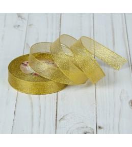 Лента парчовая, 20 мм, цвет золото